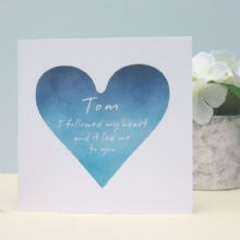 I Followed My Heart Personalised Valentine's Day Card, Wedding, Anniversary Card, Romantic Personalised Keepsake Card